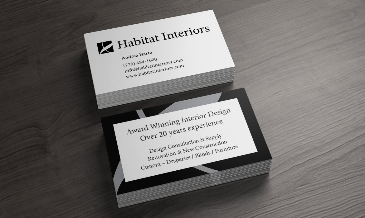 Habitat Interiors - Logo and business card