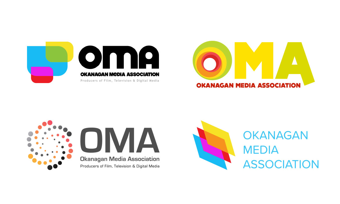 Okanagan Media Association - Logo variations