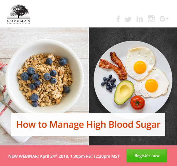 Copeman Healthcare - high blood sugar webinar header