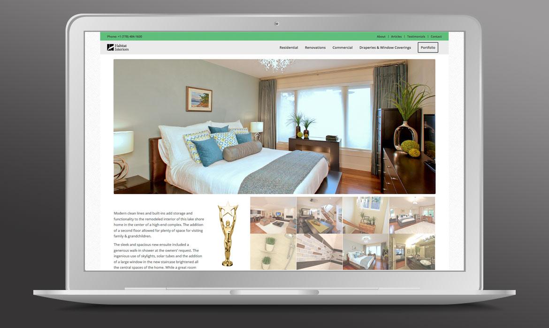 Habitat Interiors - Website
